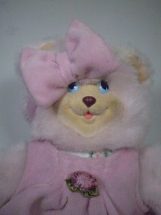 Fisher Price Briarberry Collection SARAHBERRY Pink Girl Teddy Bear Stuffed Plush…