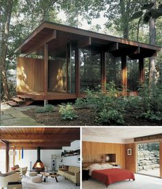 Modern cabin in the woods | Less is more! | http://scandinavianretreat.blogspot.co.uk/2009/08/retro-cabin.html