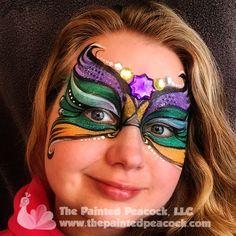 Mardi Gras Face Paint 2015, The Painted Peacock, LLC, www.thepaintedpeacock.com