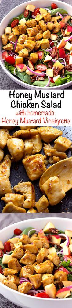 #ad Honey Mustard Chicken Salad with homemade Honey Mustard Vinaigrette recipe #BrightBites
