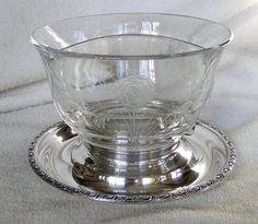 Whiting Sterling Silver Footed Floral Etched Divided Bowl or Dish-Vintage 1948-Talisman Rose Pattern by TheCalamityHouse on Etsy