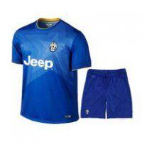 Juventus 2014-15 season Away Blue Jersey Kit(Shirt+Short)