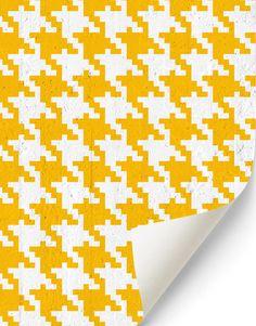 Pop Pied de poule #wallpaper in yellow. Buy on www.mrmanu.com