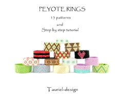 Etsy の Peyote rings 13 patterns by Tauriel