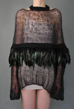 Feather Cape Sweater | Shades.Of.True | Shop | NOT JUST A LABEL