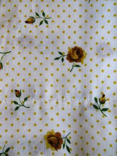 Pair King Pillowcases by Cannon Monticello - Yellow Roses Yellow Polka Dots - Shabby Chic - Country Cottage Chic - Vintage Bedding by shabbyshopgirls on Etsy