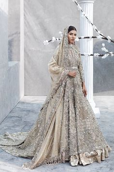 33 Pakistani Bridal Lehenga Designs to Try in Wedding - LooksGud. Asian Bridal Dresses, Indian Bridal Outfits, Pakistani Bridal Dresses, Pakistani Wedding Dresses, Pakistani Outfits, Bridal Lehenga, Walima Dress, Dress Wedding, Bridal Anarkali Suits