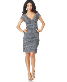 Marina Dress, Cap Sleeve Lace Cocktail Dress - Wedding Dresses - Women - Macy's