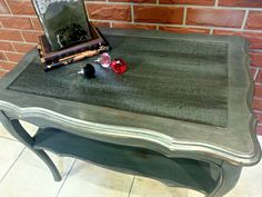 How about a little Industrial Shabby Chic using Fusion Mineral Paint's Brushed Steel Metallic and Ash!