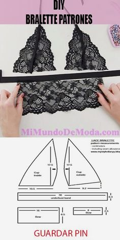 Popular Sewing Clothes home tools Underwear Pattern, Lingerie Patterns, Sewing Lingerie, Dress Sewing Patterns, Clothing Patterns, Fashion Sewing, Diy Fashion, Fashion Women, Diy Bralette