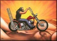 David Mann Motorcycle Biker Easyriders Centerfold Art Poster Print Biker Riding on Girl Bike Chopper Harley Davidson Wallpaper, Harley Davidson Chopper, Motorcycle Art, Bike Art, Chopper Motorcycle, Motorcycle Posters, Futuristic Helmet, David Mann Art, Drawn Art
