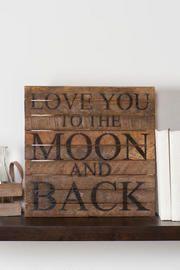 Love You to the Moon Medium Wall Art
