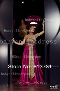 Pas cher Purple Fashion Or bretelles à paillettes Dubaï Kaftan arabes robes de soirée à long Abaya Hot vente Custom Made