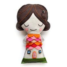 By Suzy Ultman ... I LOVE the tiny pocket in her hair with a tiny key-I think it's a key.