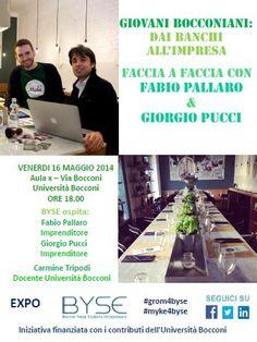 "Flyer ""Giovani Bocconiani: dai banchi all'impresa - MYKE"""