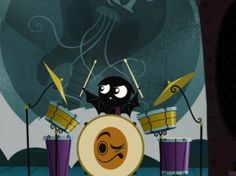 medroso tocando bateria