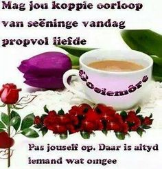 Goeie More, Tea Cups, Mugs, Tableware, Afrikaans, Funny Quotes, Africa, Language, Funny Phrases