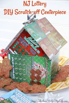 A great way to gift lottery tickets is with a Lottery DIY gift gift for ladies NJ Lottery DIY Scratch Off Centerpiece Christmas Gift Baskets, Homemade Christmas Gifts, Christmas Wrapping, Homemade Gifts, Christmas Fun, Holiday Fun, Holiday Gifts, Creative Money Gifts, Cool Gifts