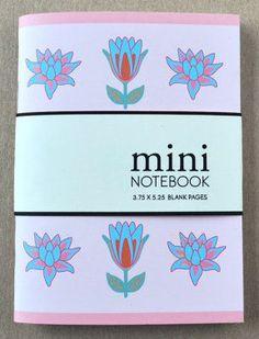 Mini Notebook, Pocket Notebook - Florals