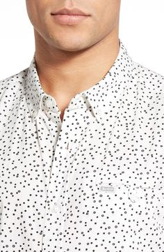'Mix Master' Tailored Fit Short Sleeve Print Woven Shirt