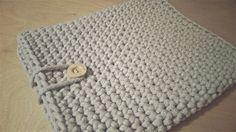 Handmade crochet tablet cover / szydełkowy pokrowiec na tablet / pokrowiec ze sznurka bawełnianego
