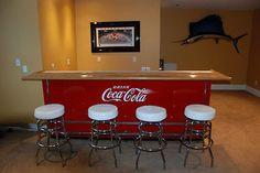 1950s Coca Cola Cooler Bar