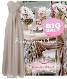 Details about BNWT FEARNE Cappuccino Strapless Chiffon Bridesmaid ...