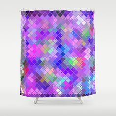 Re-Created  Flying Carpet XVIII Shower Curtain by Robert S. Lee - $68.00