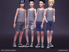Boy's Denim Shorts http://www.thesimsresource.com/downloads/details/category/sims4-clothing-male-child-everyday/title/boys-denim-shorts/id/1334472/