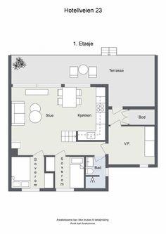 Visning lørdag kl 12 - 13 Pen vertikaldelt hytte med kort vei til skitrekk . Floor Plans, Real Estate, Patio, Real Estates, Floor Plan Drawing, House Floor Plans