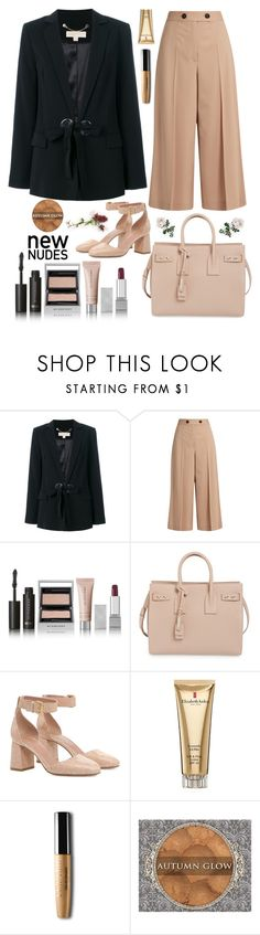 """""""Autumn Glow #nudes"""" by felicitysparks ❤ liked on Polyvore featuring Michael Kors, Proenza Schouler, Burberry, Yves Saint Laurent, RED Valentino and Elizabeth Arden"""