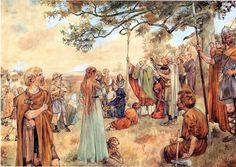 Ludger predikt in de Groninger Gouwen, 785 Three Wise Men, Medieval Life, School Posters, Vintage School, Anglo Saxon, Historical Pictures, Art Studies, Fantasy Creatures, Blacksmithing