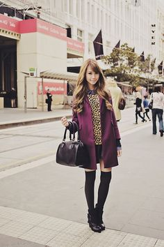 Tricia Will Go Places by Tricia Gosingtian Fashion 101, Fashion Photo, Korean Fashion, Fashion Beauty, Cold Weather Fashion, Winter Fashion, Black Knee High Socks, Black Boots, Tricia Gosingtian