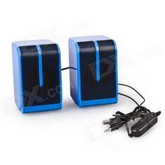 Altavoz Para PC/Ordenador y Teléfono Móvi o Tablet - http://complementoideal.com/producto/audios/altavoz-para-pcordenador-y-telefono-movil-modelo-9723/  - Altavoz Para PC y Teléfonos Móviles. Conecta el Altavoz Para PC a través del puerto USB de tu Ordenador o mediante la salida MiniJack de tu Smartphone o Tablet. El Altavoz Para PC cuenta con un diseño simple y elegante. Regulador de volumen incluido  Especificaciones Técnicas  Potencia de A...
