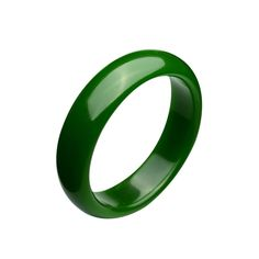 Parma77 Polished Fashion Green Nephrite Jade Bangle Spinach Green Wide Bracelet for Mother's Day Christmas (Large)