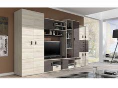 Praktická obývací stěna NELSON 1. - ORFA Nábytek Tall Cabinet Storage, Family Room, Divider, Entryway, Furniture, Home Decor, Makeup, Furniture Catalog, Modern Furniture