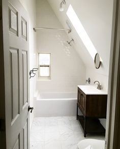 Attic bathroom inspired by Pinterest.