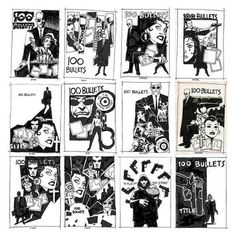 Dave Johnson 100 Bullets cover thumbnails
