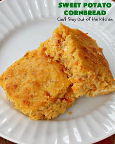 Sweet Potato Cornbread – Can't Stay Out of the Kitchen Sweet Potato Cornbread, Moist Cornbread, Honey Cornbread, Mashed Sweet Potatoes, Cornbread Recipes, Recipe Using Honey, Thanksgiving Recipes, Winter Recipes