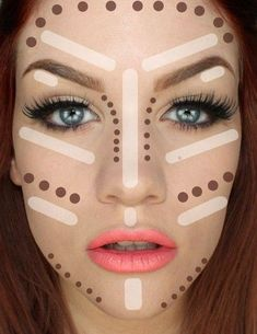 How to contouring and highlighting your face with makeup | Just Trendy Girls -