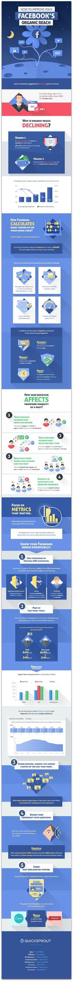 #Infographic: How to increase your organic reach on Facebook #Facebook #SocialMedia