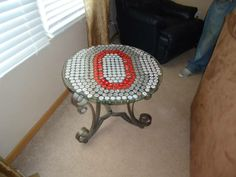 Ohio State bottle cap table