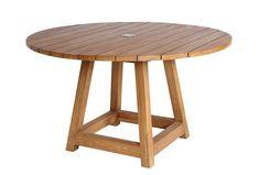 Sika-Design George Hagebord - Natur - George hagebord er i massivt teak slik at du er sikret et bord med patina. Det runde hagebordet gir en koselig atmosfære. Bordet har en behagelig fotstøtte som gir ekstra god komfort.