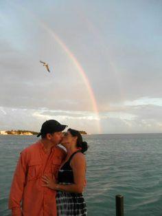 A double rainbow over Marathon Key, Fl