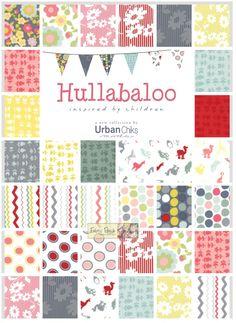 -Hullabaloo Layer Cake - Patchwork & Quilting Fabric - $35.25 : Fabric Patch, Patchwork Quilting fabrics, Moda fabric, Quilt Supplies, Patterns