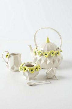 Crown Rose Tea Set  #anthropologie