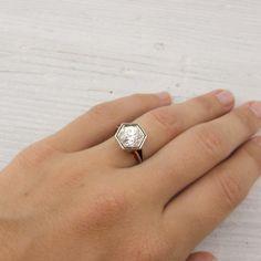 Vintage 1.75 carat Old European Cut Diamond Engagement Ring By Raymond C. Yard