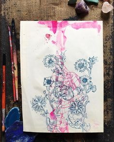 This original watercolour and ink drawing on vintage paper entitled Pink Ink Study' is now available online along with a few other original pieces. These are all one of a kind unique artworks on paper which will be signed by the artist - me! Under the original artwork tab in our online shop. Xxx