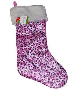 Leopard Print Sequins Christmas Stocking 19 Inch -- You can get additional details at the image link.