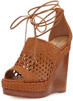 Michael Kors Angela Woven Leather Wedge Sandal, Nutmeg https://api.shopstyle.com/action/apiVisitRetailer?id=520181000&pid=uid2500-37484350-28